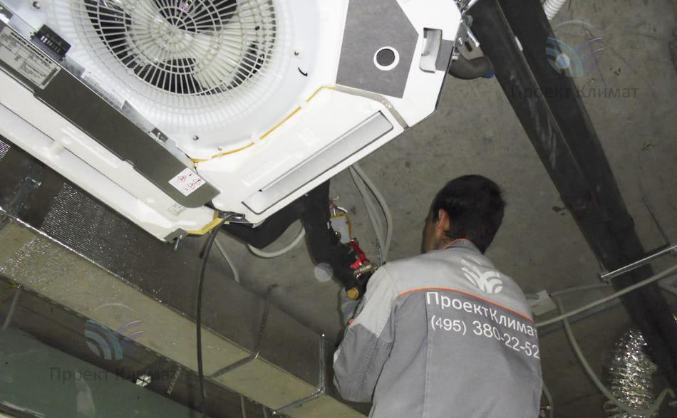 Монтаж потолочных кондиционеров mitsubishi heavy